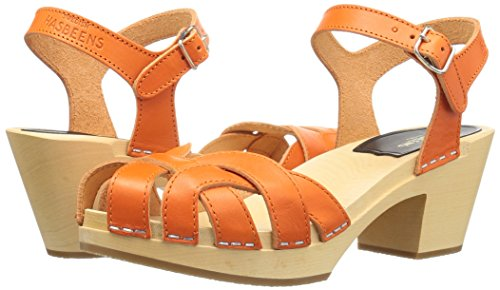 Platform High Pearl Women's Hasbeens Sandal Orange Swedish 8qvUI4nx