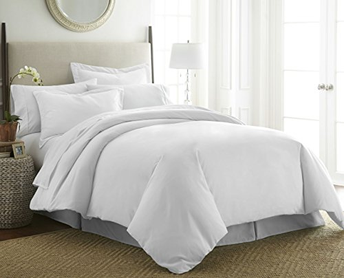 1800 Series 3 Piece Duvet Cover Set by Becky Cameron - Double-Brushed Microfiber - Twin/Twin Extra Long, White