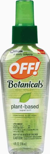 OFF! Botanicals Plant-Based Insect Repellent 4oz Spritz Repel Mosquitoes, gnats and other annoying insects for up to 2 hours