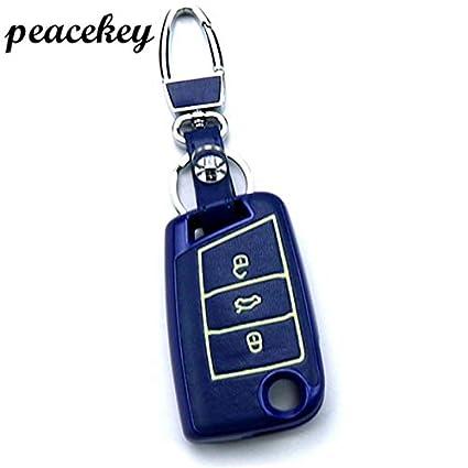 Desconocido Peacekey - Funda de Piel para Llavero de Coche para VW ...