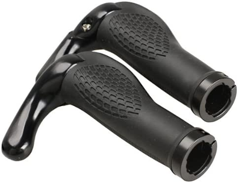 2PCS Ergonomic Rubber MTB Mountain Bike Bicycle Handlebar Grips Cycling Lock-On
