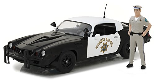 Greenlight 1:18 1979 Chevy Camaro Z/28 with California Highway Patrol Officer Figure Die-Cast Vehicle