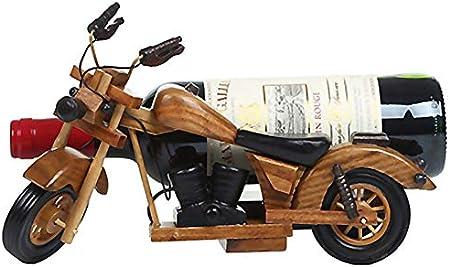 Botellero Vino Motocicleta De Madera Botelleroswine Rack Adornos Botellero Retro Para Hogar Decoración Escaparate Caja De Almacenaje Estantería De Vino