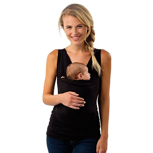 ShungHO Soothe Shirts Women Maternity Kangaroo Care Soothing and Breastfeeding Baby Carrier...