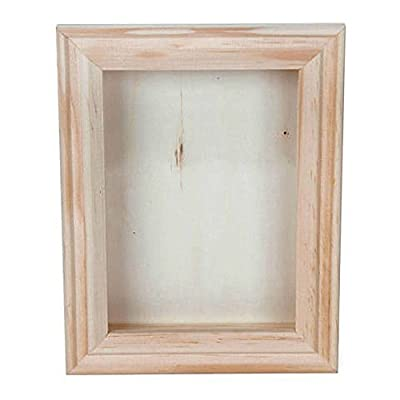 Bulk Buy: Darice DIY Crafts Shadow Box Natural 5 x 7 inch (6-Pack) 9184-76 - Shadow box with beveled, 5x7 inch, unfinished wood frame. Real glass cover slides out so you can add choice of memorabilia. Approximately 3/4 inch deep. - picture-frames, bedroom-decor, bedroom - 41EmKcODHeL. SS400  -