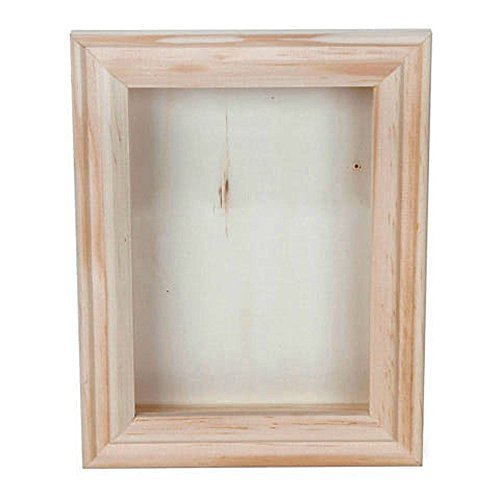 Bulk Buy: Darice DIY Crafts Shadow Box Natural 5 x 7 inch (6-Pack) 9184-76