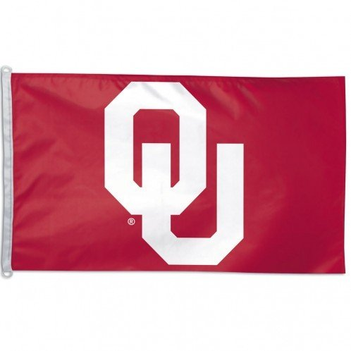 NCAA University of Oklahoma WCR31771091 Team Flag, 3' x - In Mall Sooner Stores