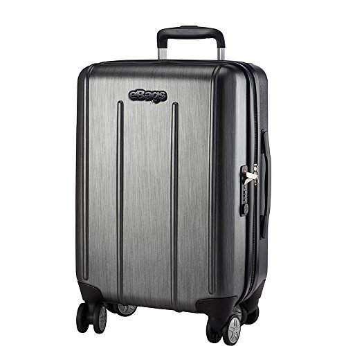 3c9fe2cef5ab eBags EXO 2.0 Polycarbonate Hardside 8 Wheel Spinner Luggage with TSA Lock  - 22-inch - Carry-On - (Brushed Graphite)