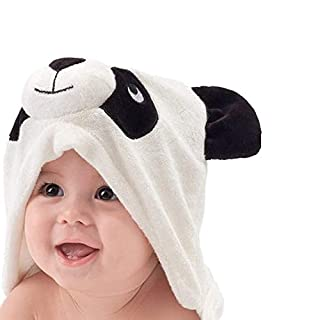 Bamboo Baby Hooded Towel - Softest Hooded Cute 3D Panda Bath Towel for Babie, Toddler,Infant - Ultra Absorbent and Hypoallergenic, Natural Swim Towel Perfect for Newborn
