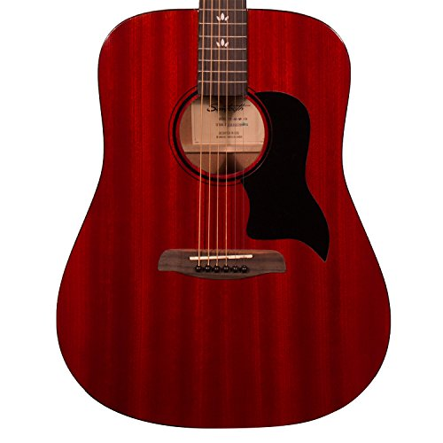 Vintage Dreadnought Acoustic Guitar - Sawtooth Modern Vintage Dreadnought Acoustic Guitar, Trans Cherry Red