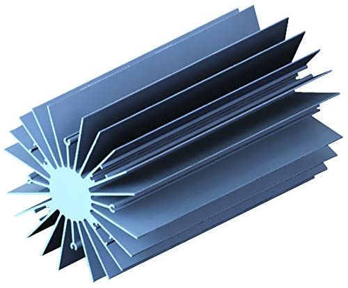 Radial Fin - 19754-M-AB - LED Heat Sink, Radial Fin, RS Rectangle Extrusion, 19754 Series, Bridgelux LED Light Engines (19754-M-AB)
