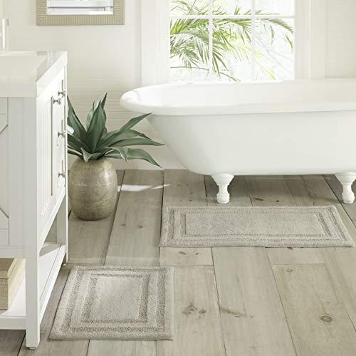 - Tommy Bahama Isla Bath Rug Set, 17x24, Grey