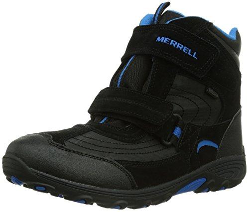 Merrell Moab Polar Mid Strap Snow Boot (Toddler/Little Kid/Big Kid),Black,11 M US Little Kid