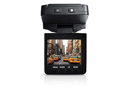 Coby DCS-404 2.5-Inch Swivel Screen 1080p Car Dash Cam and DVR Box (Black)