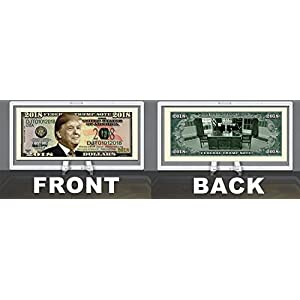 American Art Classics Donald Trump 2018 Federal Presidential Dollar Bill Limited Edition Desk Top Accessory in Currency Desktop Stand - Best Desktop Gift