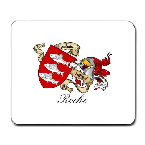 Roche Family Crest Coat of Arms Mouse Pad