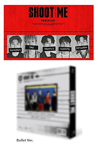 - DAY6 Shoot Me 3rd Mini Album [Bullet Ver.] A ver. CD + Photo Book + Photo Cards + Clear Card + Tatoo Sticker K-POP