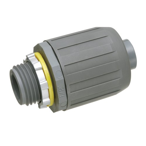 Arlington NMLT5-25 SNAP2IT Straight Connector for Liquid-Tight Conduit, Push-On Installation, 1/2-Inch, Non-Metallic, 25-Pack