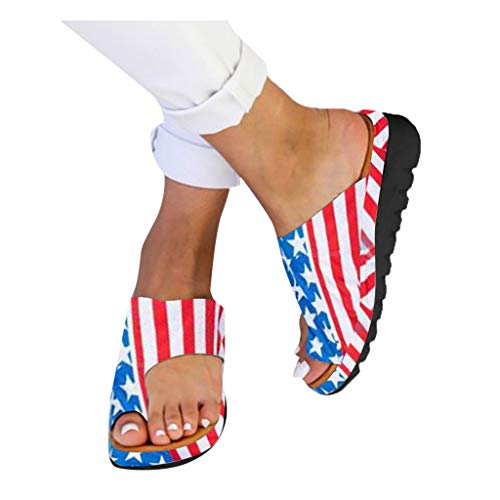2019 New Women Comfy Platform Toe Ring Wedge Sandals Shoes Summer Beach Travel Shoes Comfortable Flip Flop -