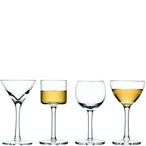 LSA International Assorted Lulu Liqueur Glass (4 Pack), 1.7 - 1.8 fl. oz., Clear