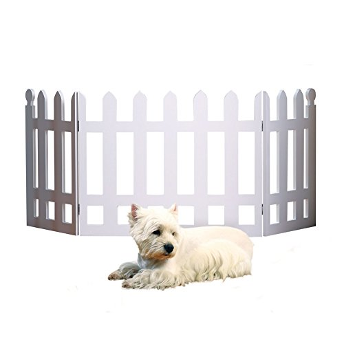 White Picket Fence Folding Pet Gate (Small Fence)