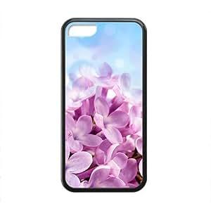 XiFu*MeiFresh Pink Flower Black Phone Case for iphone 6 plua 5.5 inchXiFu*Mei