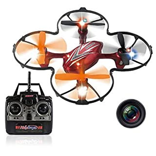 """Haktoys HAK904C 7"""" 4-Channel 2.4GHz RC Quadcopter with Camera 