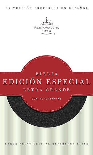 RVR 1960 Biblia Letra Grande Edición Especial con Referencias, negro piel fabricada (Spanish Edition)