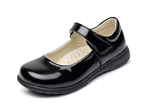 Sythyee Girl's Oxford Leather School Uniform Outdoor Dress Mary Jane Shoes(Toddler/Little Kid/Big Kid)