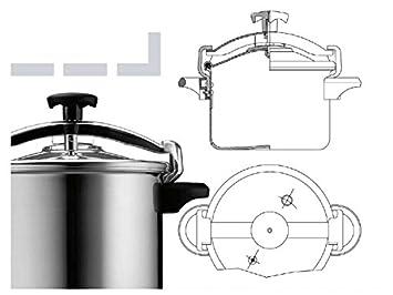 Silampos Aluminum Pressure Cooker 4.5 6 8 10 12 Liters Capacity 8 Lts
