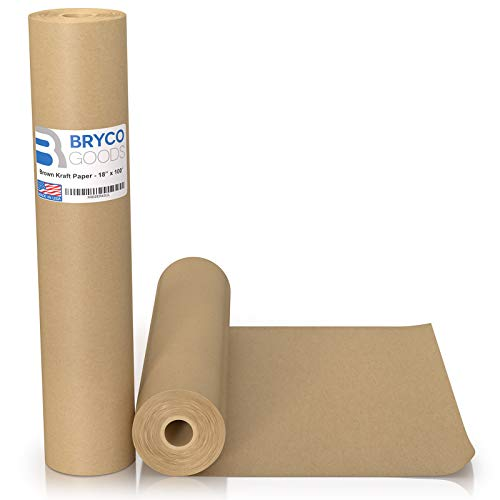 Brown Kraft Paper Roll – 18″ x 1,200″ (100′) Made in The USA – Ideal for Packing, Moving, Gift Wrapping, Postal, Shipping, Parcel, Wall Art, Crafts, Bulletin Boards, Floor Covering, Table Runner