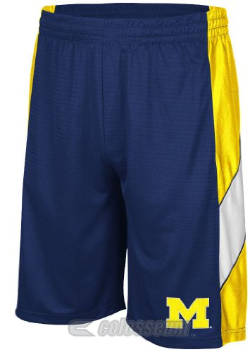 Colosseum Michigan Wolverines Blue Courtside Shorts (S=30-31)