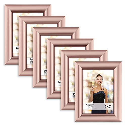 Langdons 5x7 Picture Frame , Rose Gold Photo Frame 5 x 7, Wa