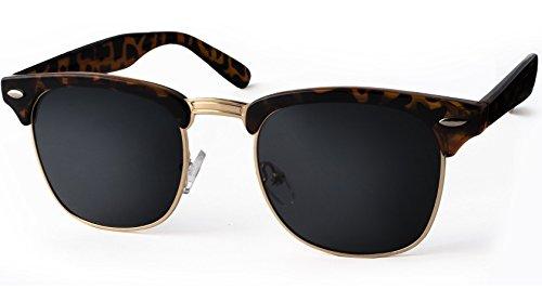 UVprotect® Clubmaster Horn Optik Sonnenbrille Havana W33