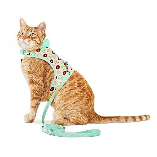 (Bond & Co. Donut-Print Hooded Cat Harness and Leash Set, Standard)