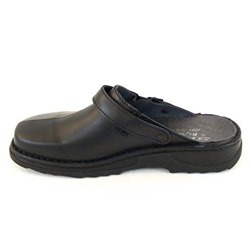 schwarz Clogs Leder Stuppy 12765 Pantoletten Herren Schuhe Stuppy Wechselfu脽bett Herren Sa0qOP