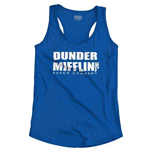 Dunder Paper Company Mifflin Office TV Show Racerback Tank Top ()