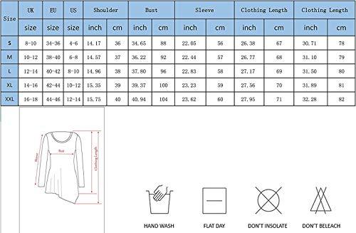 Shirts Collo Grazioso Longshirt Donna White Tops Casual A Primaverile Asimmetrico Stlie Monocromo Lunga Camicia Autunno Camicetta Lunghe Rotondo Felpe Bluse 1 Jumper Maniche qZ84q6wxC