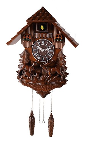 Deluxe 16-inch Forest Elk Cuckoo Clock, Home Decor, Specialty Quality, Quartz Timepieces - - Cuckoo Elk Clock