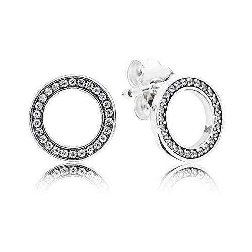Pandora Women Silver Stud Earrings - 290585CZ