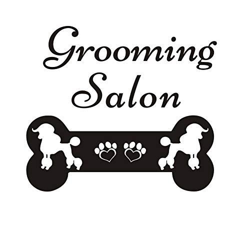 - TOARTi Dogs Grooming Salon Wall Decal, Puppy Bone Vinyl Sticker, Pet Shop Decor Animal Nursery Bedroom Wall Art Home Decor, Black