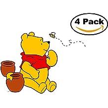 Winnie the Pooh 4 Stickers Cartoon Car Bumper Window Sticker Decal 4X4_94