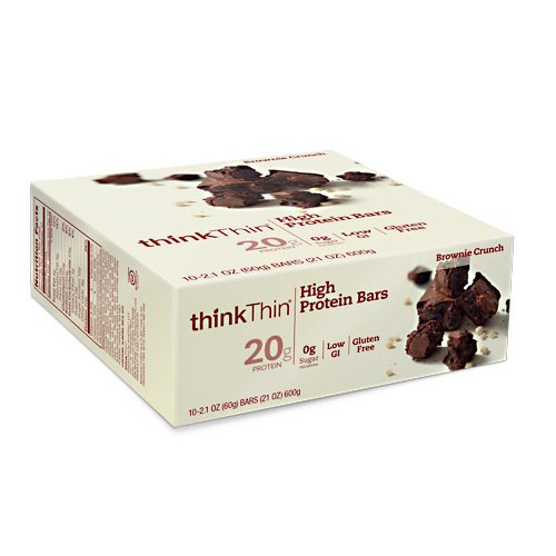 Think Products ThinkThin Bar Brownie Crunch -- 10 Bars