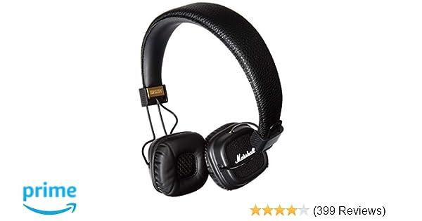 Amazon.com: Marshall Major II Bluetooth On-Ear Headphones, Black (4091378) - Discontinued: Electronics