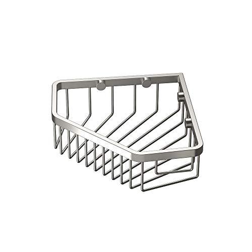 Gatco 1515 8-1/2-Inch Shower or Tub Corner Basket, Satin Nickel