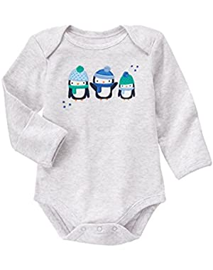 Baby Blue Penguin Bodysuit