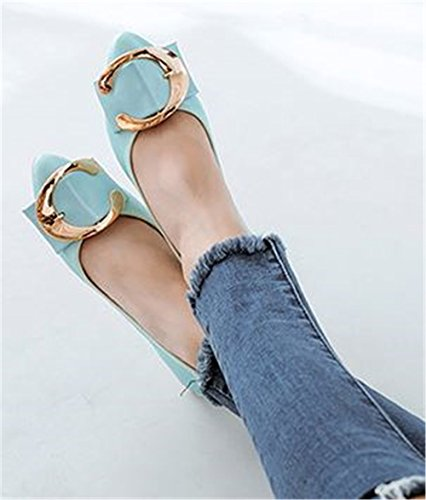 Ballet Blue Casual Fashion Flat Soft Flats Women Pregnant Ladies Shoes Autumn Shoes Shoes Foldable 6qHYOY