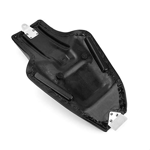 Motorcycle Black Synthetic Leather Stitched Two 2-up Front Rear Driver Passenger Seat For Harley Sportster XL883 XL1200 2004-17 48 72 2010-2017 Diamond