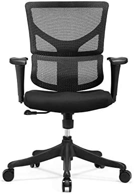 X Chair Executive Office Desk Task Chair X-Basic-Black Ergonomic Lumbar Support