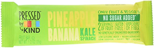 Pressed by KIND Fruit Bars, Pineapple Banana Kale Spinach, 12 Count